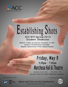 Poster of 2014 Spring student film showcase